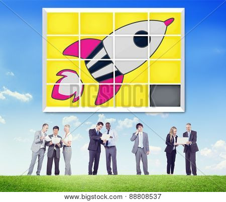 Startup Technology Growth Success Game Puzzle Concept