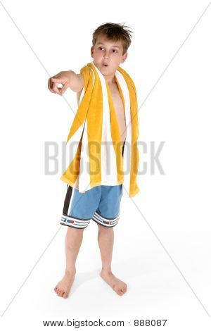 Beach Boy Pointing