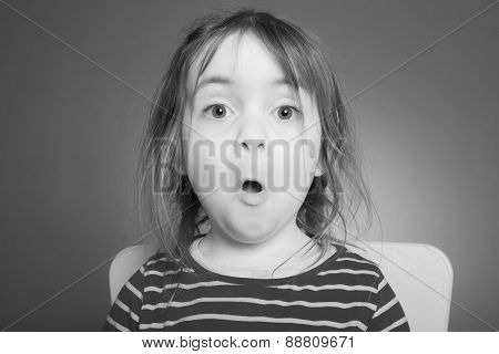 Little Girl Makes Grimace