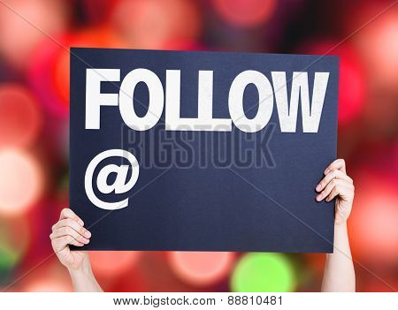 Follow with a copy space card with bokeh background
