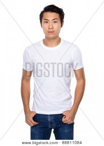 Handsome asian young man