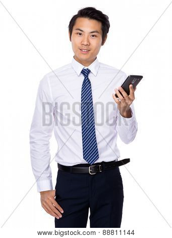 Businessman use of smartphone