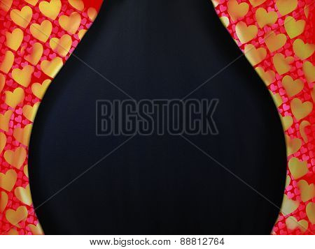 Heart Curtain Border