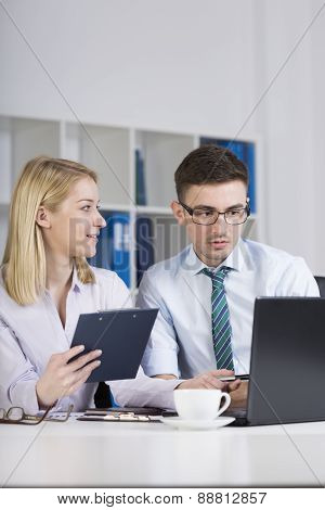 Clerks Working In Office