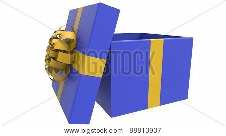 Colored Gift Box In Yellow And Blue