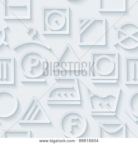 Light perforated paper with cut out effect. 3d laundry seamless background. Vector EPS10.