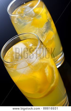 Studio shot of two drinks