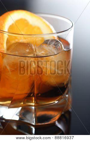 Close up of drink- studio shot