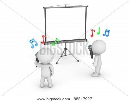 3D Characters Singing Karaoke