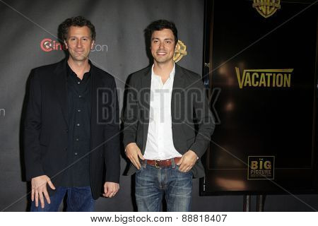 LAS VEGAS - APR 21: Jonathan M. Goldstein, John Francis Daley at the Warner Bros. Pictures Exclusive Presentation the Summer of 2015 and Beyond at Caesars Pallace on April 21, 2015 in Las Vegas, NV