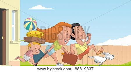Family Beginning The Summer Vacations