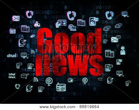 News concept: Good News on Digital background