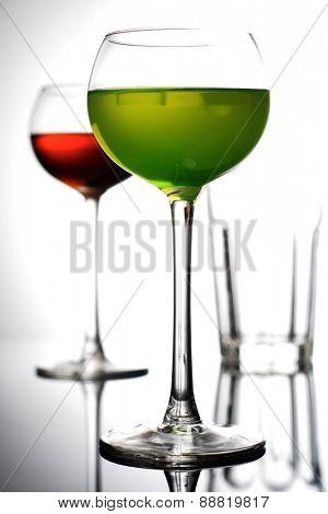 Studio shot of drinks - close - up