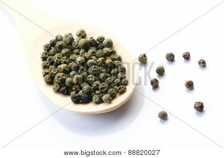 Close up of pepper grains