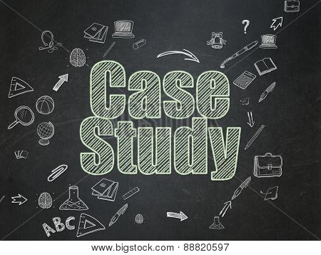 Education concept: Case Study on School Board background