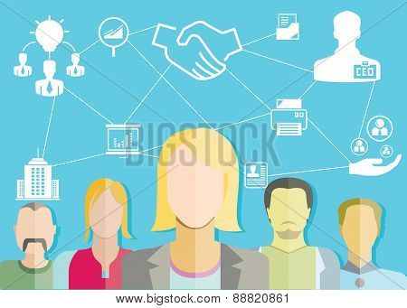 business people and business management concept