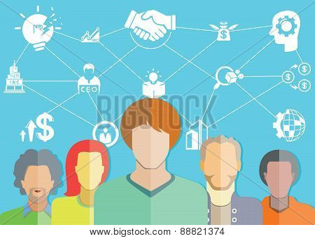 people group and startup business concept