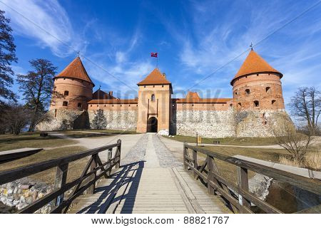 Medieval Trakai Island Castle. One of the most popular touristic destinations in Lithuania