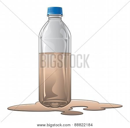 Bottle With Dirty Water
