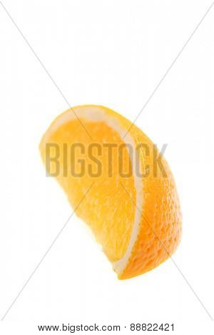 Orange on white background - studio shot