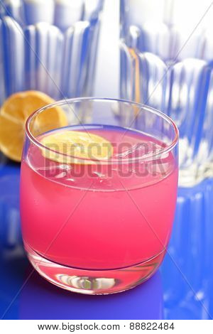 Pink drink - studio shot