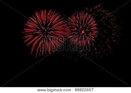 Beautiful New Year Celebration Fireworks