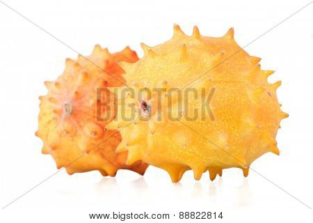 Studio shot of kiwano on white background