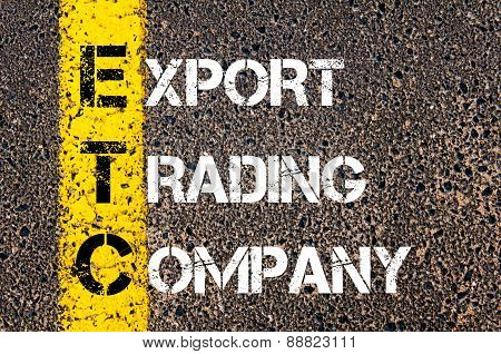 Business Acronym Etc As Export Trading Company