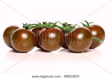 Studio shot of black tomatoes
