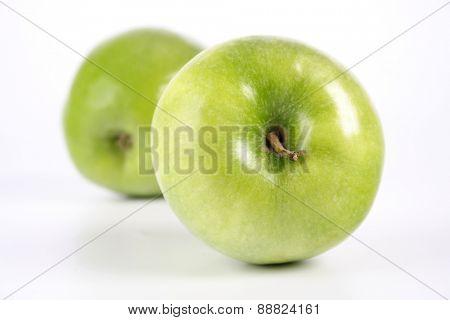 Studio shot of green apples