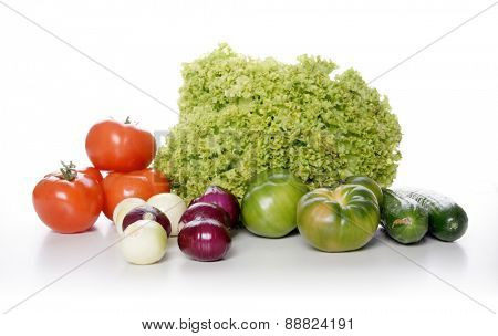 Studio shot of vegetables composition