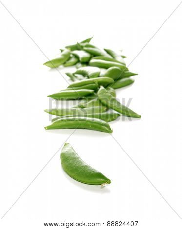 Peas on white background - studio shot