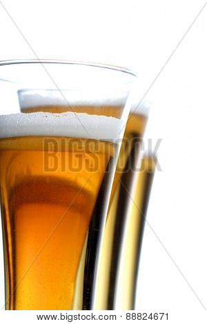 Studio shot of glass of beer