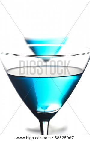 Close up of blue curacao drink