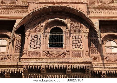 Intricate Carving Of Balcony