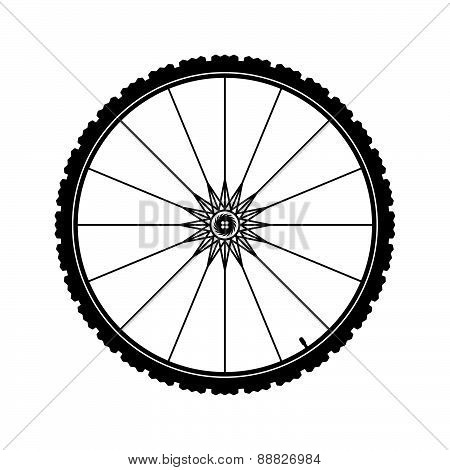 Bicycle Wheel Vector Illustration