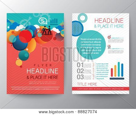 Abstract Circle Design Brochure Flyer Layout Template