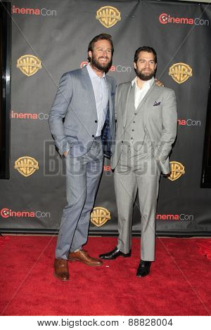 LAS VEGAS - APR 21: Armie Hammer, Henry Cavill at the Warner Bros. Pictures Exclusive Presentation Highlighting the Summer of 2015 and Beyond at Caesars Pallace on April 21, 2015 in Las Vegas, NV