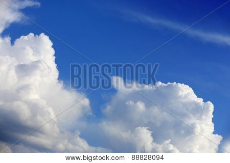 Nice clouds in sky at a nice day