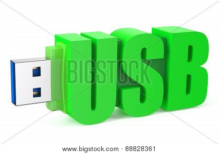 Green Usb Flash Drive Ss 3.0
