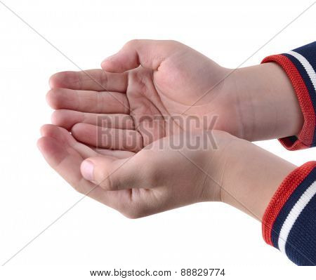 Child's hands holding