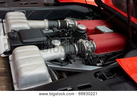Engine Of A Sports Car