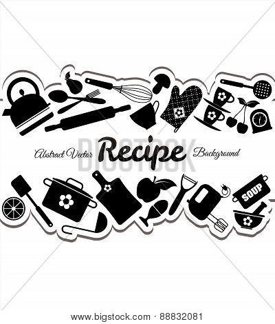Kitchen Icons Set Of Tools.