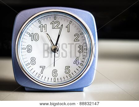 Old fashioned azure morning alarm clock