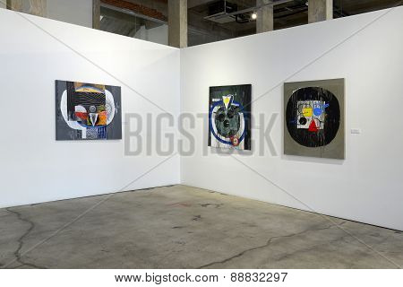 Abstract Painting in gallery