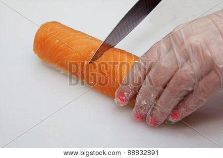 Slicing Sushi Knife Philadelphia
