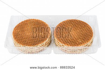 Round Waffles In Plastic Transparent Box