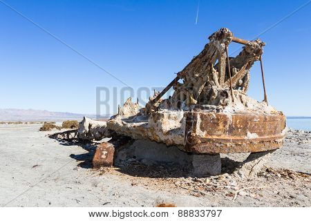 Rusty Crane In The Salton Sea