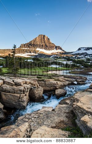 Mountain landscape at Logan Pass, Glacier National Park