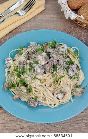 Spaghetti With Mushrooms